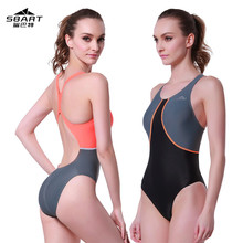 SBART Professional Padded One-Piece Swimwear Women padded Swimsuit Sports Racing Competition Bodybuilding Bathing Suit