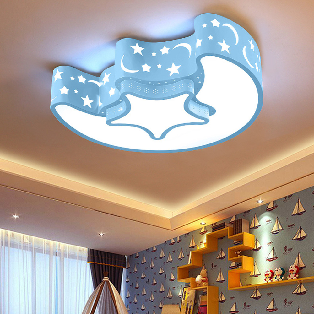 Moon LED Ceiling Light Children Panel Lamp Hall Surface Mount Flush Lighting Fixture Remote Control Bedroom Study Living Room usb3 0 round type panel mounting usb connecter silver surface