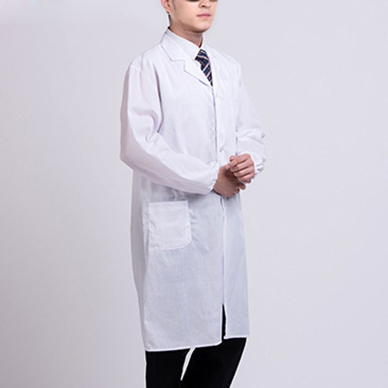 White Lab Coat Doctor Hospital Scientist School Fancy Dress Costume for Students Adults BMF88 image