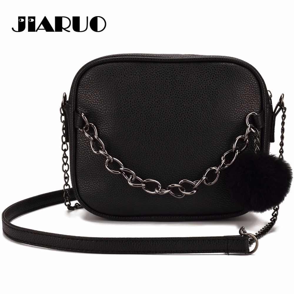 JIARUO Chain Design Women Crossbody bag small Square leather Messenger bag  shoulder bag handbags cross body 1a08c781d70a3