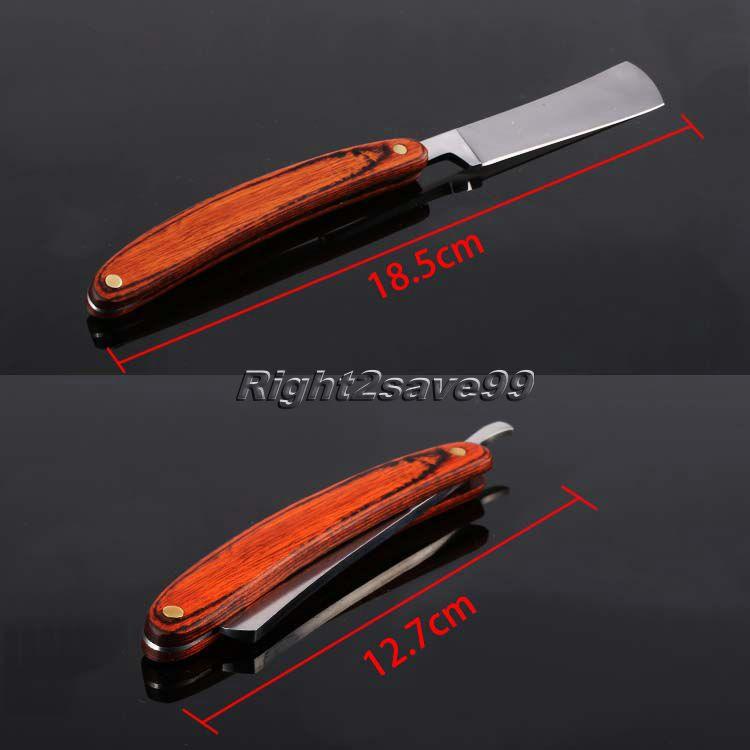 2017 új egyenes él rozsdamentes acél fodrász borotva hajtogató borotválkozó kés Barber szakáll torok borotválkozó kés vágott eszköz férfi