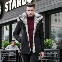 Raccoon Fur Warm White Duck Feather Coat Long Winter Jacket man & Women Down Parka Plus Size 2018 Rabbit Hair Hooded Outerwear