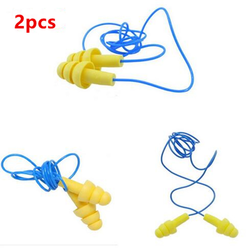2pcs Silicone Soft Ear Plugs for noise Protective Reduction  tapered corded ear plugs for sleep Anti-noise safety earmuffs scarlett sc vc80c04 пылесос