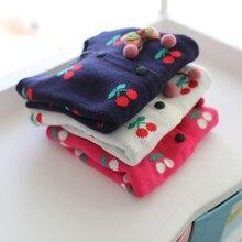 Обувь для девочек одежда, детский хлопковый кардиган Свитера для маленьких девочек Осенне-весенняя верхняя одежда