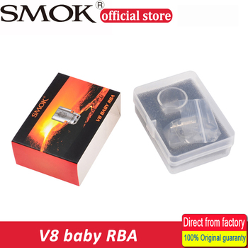 100% Original Smok V8 Baby RBA coil and V8 RBA exclusive glass tube & sealing rings Fit for TFV8 Baby Tank Electronic Cigarette Atomizer Cores