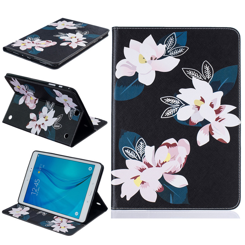 Top quality Painting Stand Flip PU Leather Case For Samsung GALAXY Tab A 9.7 T550 T555 SM-T550 SM-T555 Tablet Pc Case Back Cover case for samsung galaxy tab a 9 7 inch tablet sm t555 t550 555 550 hybrid stand hard silicone rubber armor case cover gift 3in1