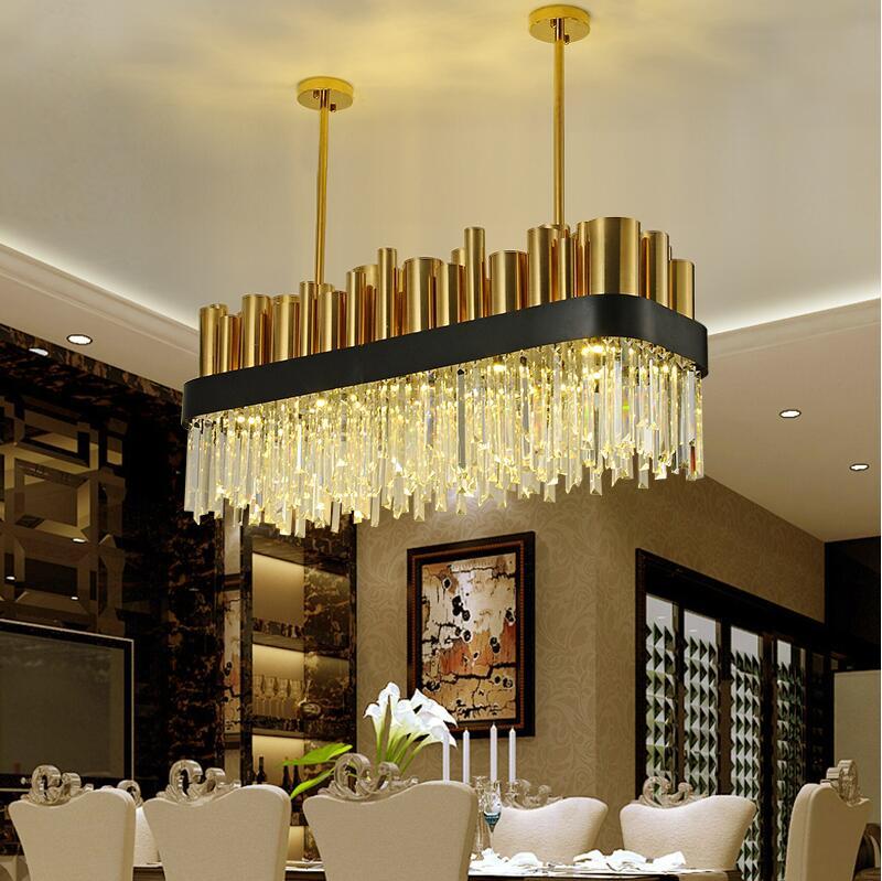 Ēdamistabas kristāla lampas kvadrātveida personalizēts īss - Iekštelpu apgaismojums - Foto 2