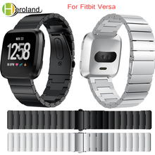 Stainless Steel Watch Strap For Fitbit Versa Band Screwless Bracelet Replacement Metal watchbands Accessories For Fitbit Versa accessories stainless steel bracelet replacement watchbands for fitbit versa smart band metal strap wrist band with diamond new