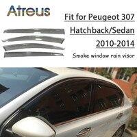 Atreus 1set ABS For 2014 2013 2012 2011 2010 Peugeot 307 Accessories Car Vent Sun Deflectors Guard Smoke Window Rain Visor