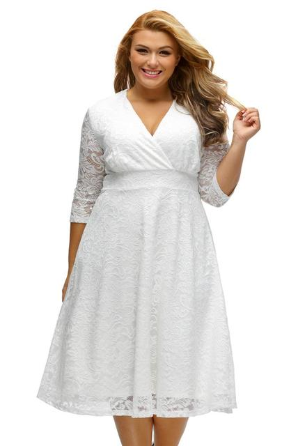15e62c28c1 2017 European Fashion Women Plus Size lace Dresses Peach New Elegant Women  Party Dress Clothing Formal Dresses Evening Wear ml54