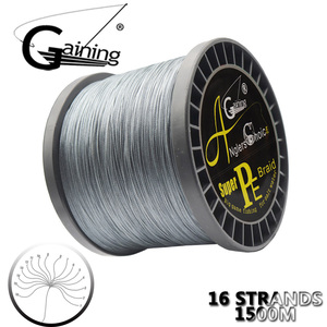 Image 1 - 1500M Japan Super Strong Braided Fishing Wire 16 Strands 60LB 310LB Multifilament PE Fishing Line for Carp Fishing
