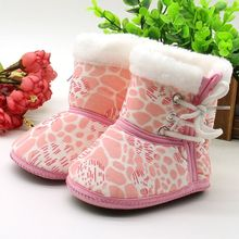 2017 Winter Baby Girls Ankle Snow Boots Newborn Infant Shoes Antiskid Warm Toddler Booties