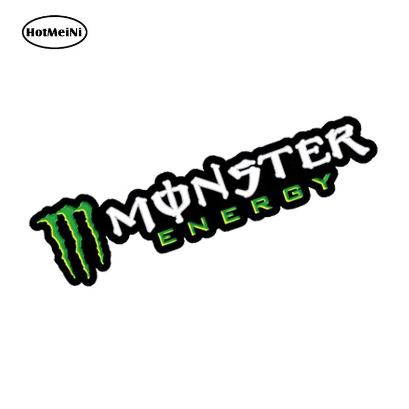 Hotmeini 12cm X 3cm Car Styling 2 X Vinyl Stickers Monster Green Car Auto Moto Bike Scooter Helmet Ktm Car Sticker goal directed complete web recommendation