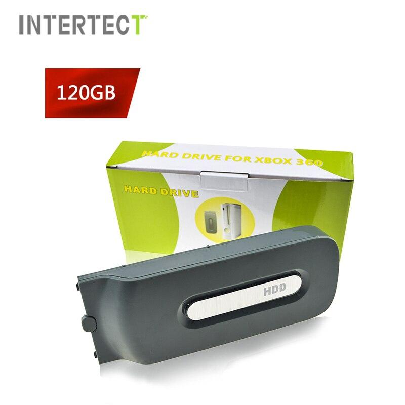 120 gb hdd disco duro para xbox 360 fat vídeo los juegos de Consola de 120 gb de