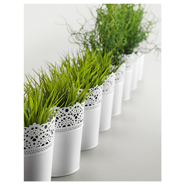 Online Shop Free Shipping Rustic Vase White Embossed Planter Tin