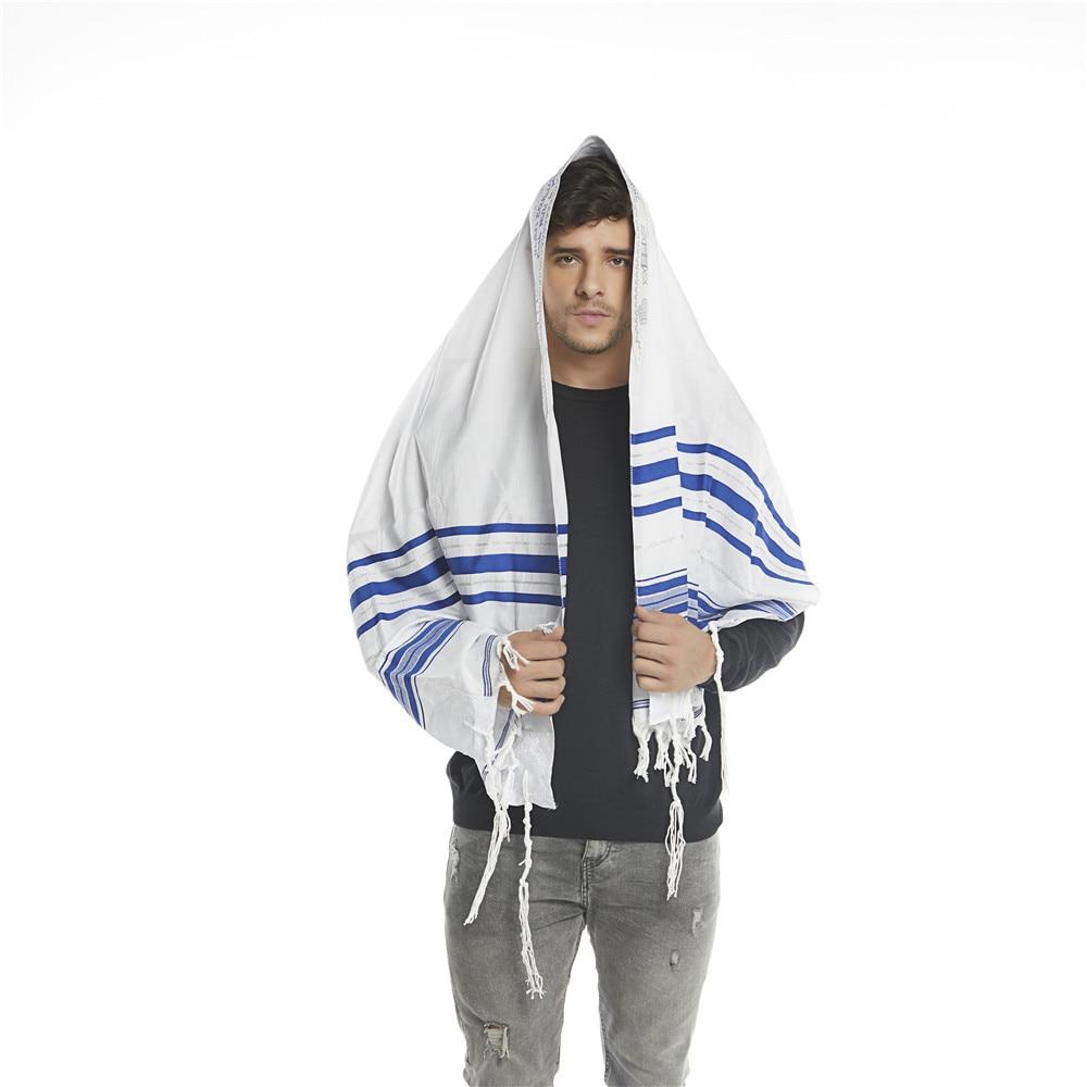 """Image 3 - Jinjin.QC Scarf For Men 72x22"""" (Approx) Messianic Jewish Tallit Talit Prayer Shawl and Talis Bag Prayer Scarves and Shawls-in Men's Scarves from Apparel Accessories"""