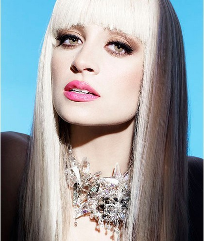 2016 New Fashion Lady gaga beige long straight hair for female party cosplay synthetic hair wig