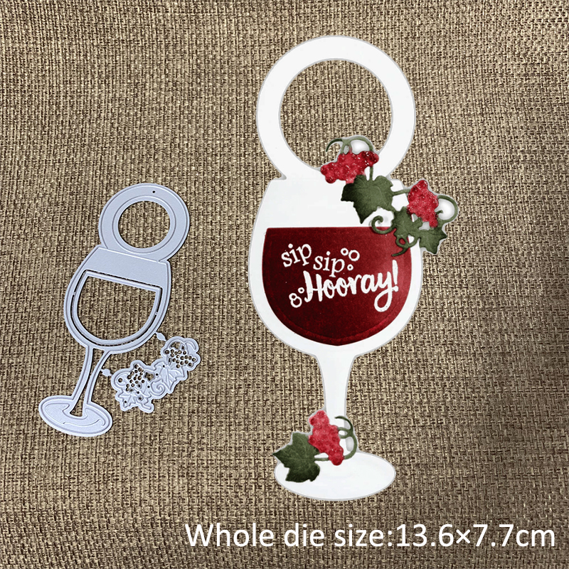 New Design Craft Metal Cutting Die 2 Kinds Of Wine Glass Bottle