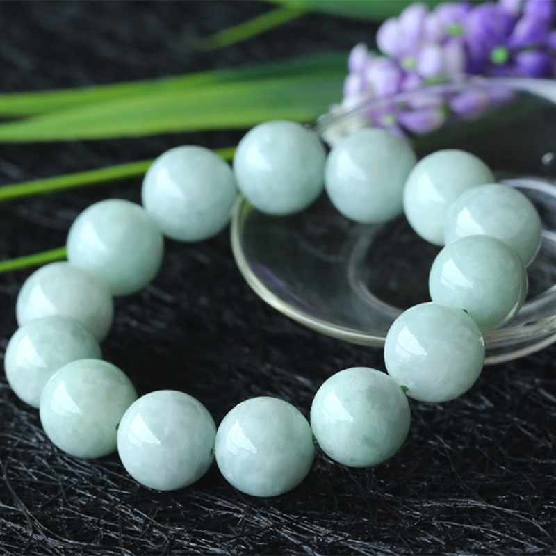 Wholesale Genuine Natural Green Jadeite Jade Round Beads 6-18mm Stretch Bracelets 03555 100% natural green jadeite round circle pendant bring peace 1pcs