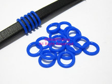 12mm Blue Licorice silicone o rings leather rubber stopper sealing rings