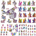 10pcs/lot Big 5CM Many Styles Simba Filly Plush Little Horse Rainbow Horse Unicorn Butterfly Stars Kid Animal Doll Christmas Toy