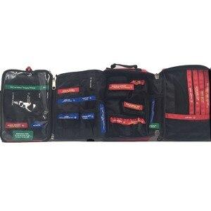 Image 4 - Kit de primeiros socorros, kit profissional de 4 camadas, primeiros socorros, sobrevivência, armário, grande, saco de resgate para viagem