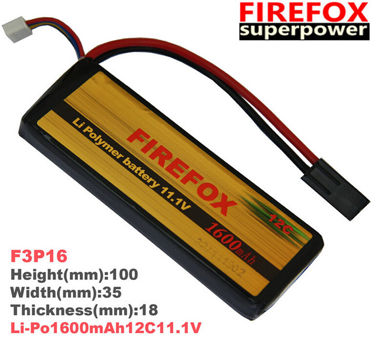 1pcs 100% Orginal FireFox 11.1V 1600mAh 12C Li Po AEG Airsoft Battery F3P16 Drop shipping 1pcs 100% orginal firefox 11 1v 1500mah 15c li po aeg airsoft battery f3l15c drop shipping