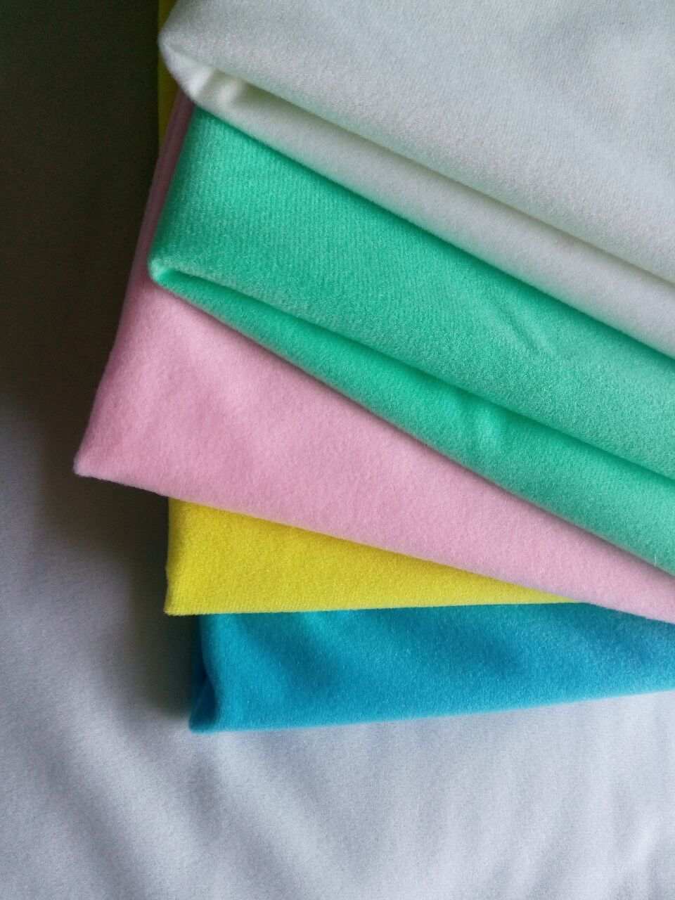 High quality polyester glow Flocked cloth DIY Fabric