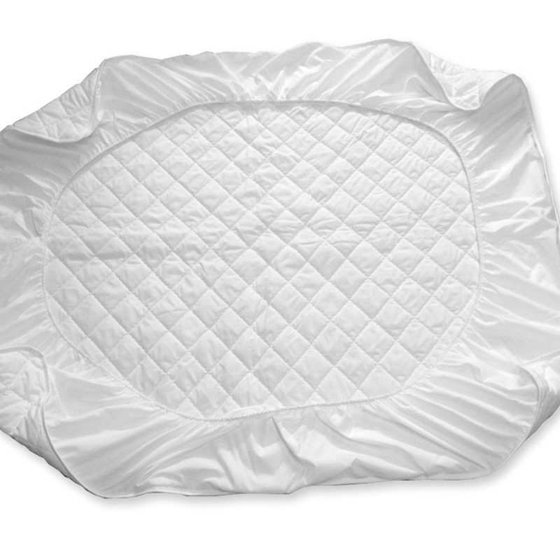 white quilting bed pad fitted sheets linens sanding polyester fabric multi-size mattress protection cover 11