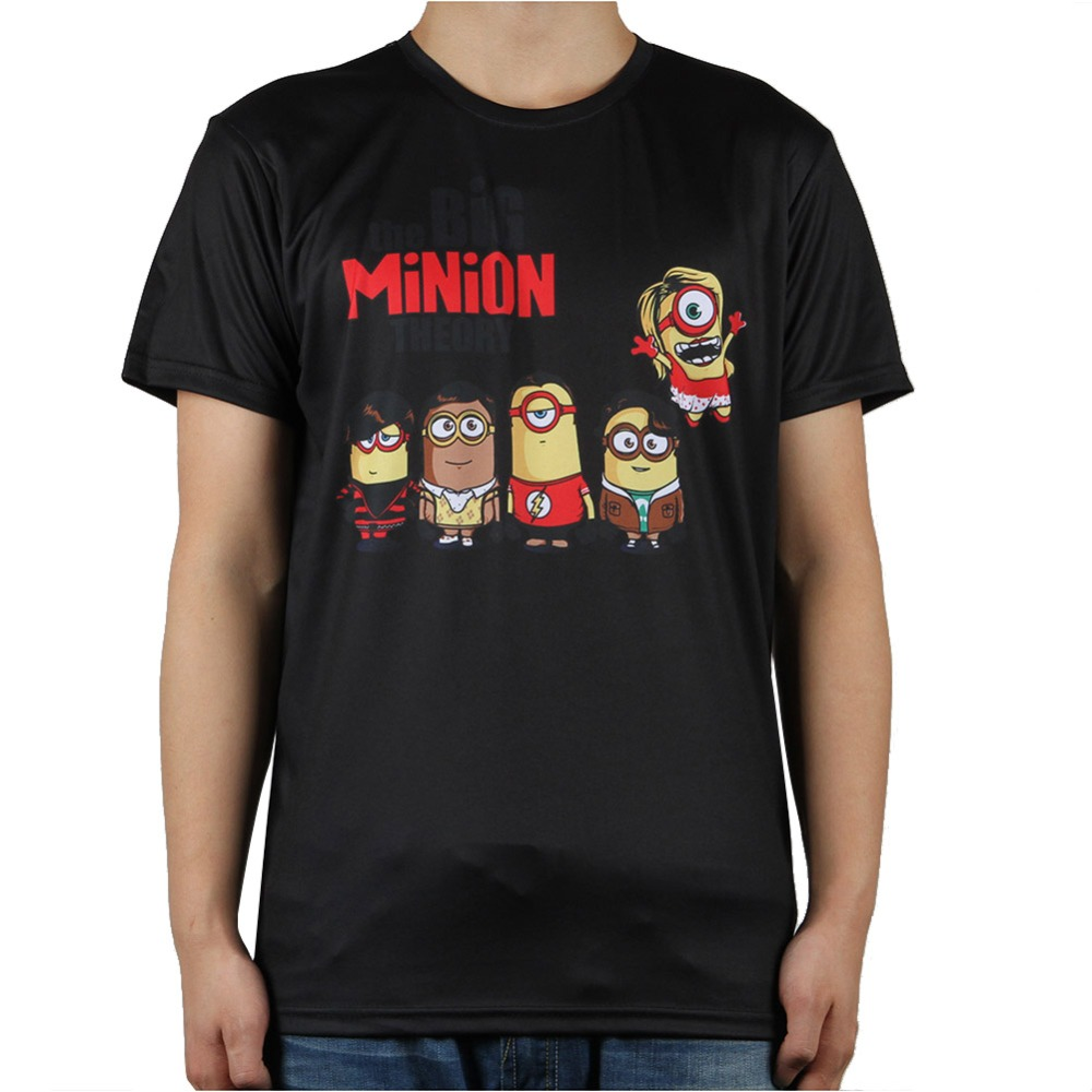 12colors new fashion the big bang theory minions t shirt. Black Bedroom Furniture Sets. Home Design Ideas