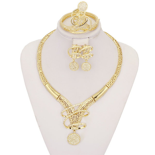 2017 new fashion creative crystal pendants necklaces cute earrings 2017 new fashion creative crystal pendants necklaces cute earrings ring bracelet jewelry sets italy gold jewellery aloadofball Image collections