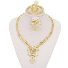 11.11 CZ de La Manera Creativa de Cristal Colgantes Collares Lindos Pendientes Anillo de la Pulsera/Italia 18 K chapado en oro de joyería