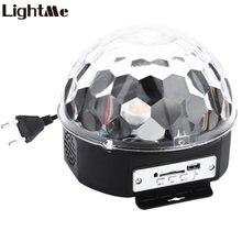 Lightme мини RGB сценический световой эффект кристалл магический шар Диско DJ свет с пультом дистанционного управления колонки поддержка SD карта вечерние KTV