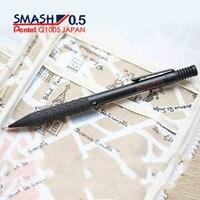 Japan Pentel Smash Q1005 Mechanical Pencil Rubber Holder Anti skidding 0.5mm Metal Body