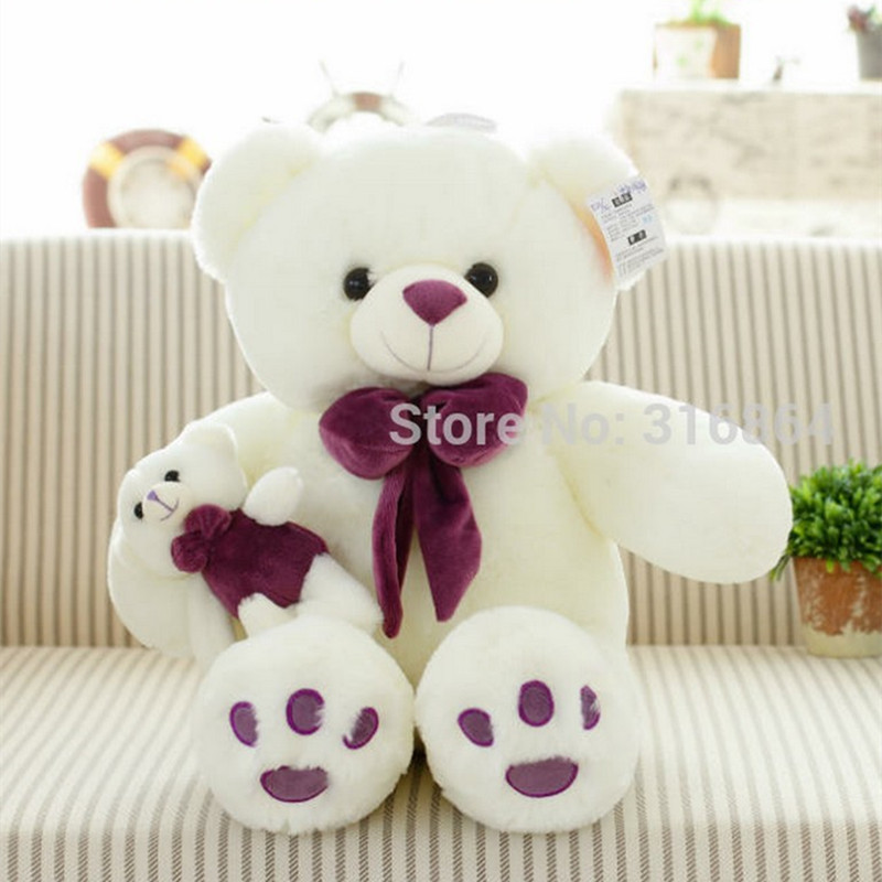 90cm Teddy Bear Plush Toy Mother And Kid Bear Gift Bear Plush Toy Bear Soft Stuffed Doll Factory Supply stuffed animal 120 cm cute love rabbit plush toy pink or purple floral love rabbit soft doll gift w2226