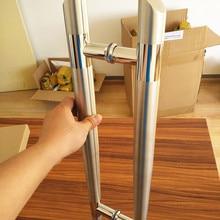 Высокое качество диаметр 38*600 мм расстояние между отверстиями 400 мм переменный диаметр SUS 304 нержавеющая сталь матовая дверная ручка