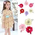 6pcs/lot Hot sale baby girl lovely flower  hairpins kids hair clips children hair accessories