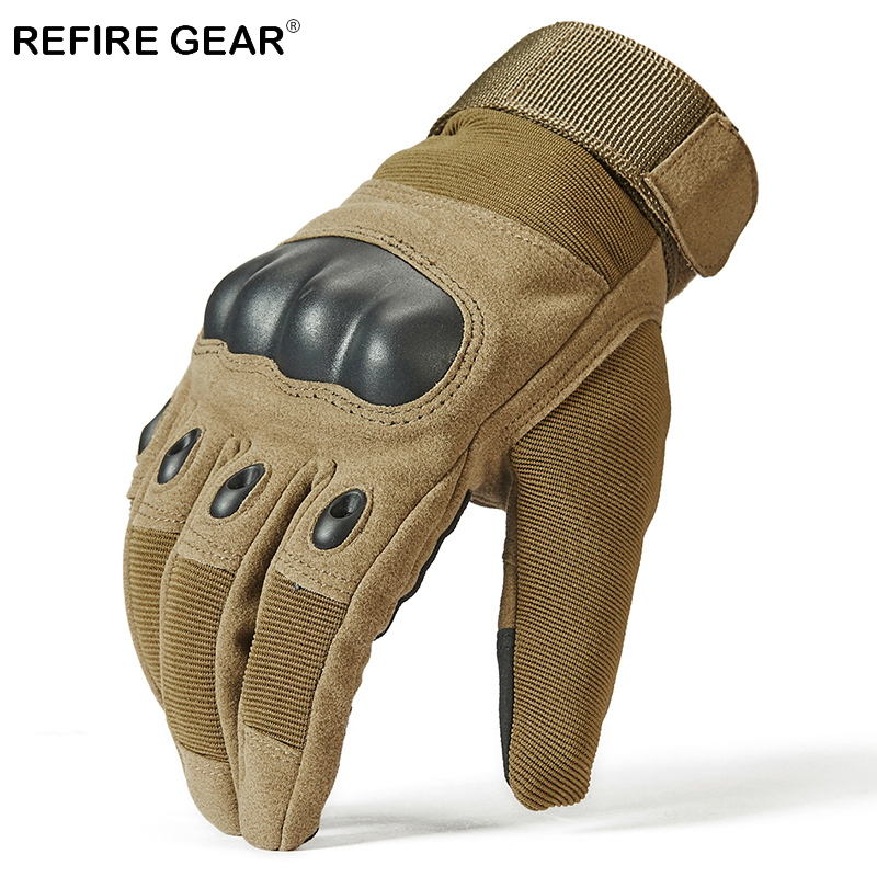 Refire Gear Military Hunting Full Finger Gloves Men Hard Shell Knuckles Outdoor Hiking Gloves Us Army Tactical Shoot Sport Glove Good For Energy And The Spleen
