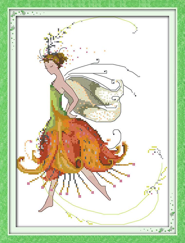 Цветочная фея (6) наборы вышивки крестиком мультфильм красоты людей Аида