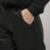 [Twotwinstyle] 2016 outono inverno moda couro pu harem pants mulheres calças new roupas de cor preta