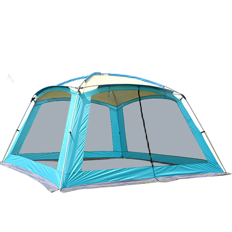 Outdoor beach tents canopy 5-8 shade anti-sun anti-rain sunshade awning waterproof big space camping tent octagonal outdoor camping tent large space family tent 5 8 persons waterproof awning shelter beach party tent double door tents