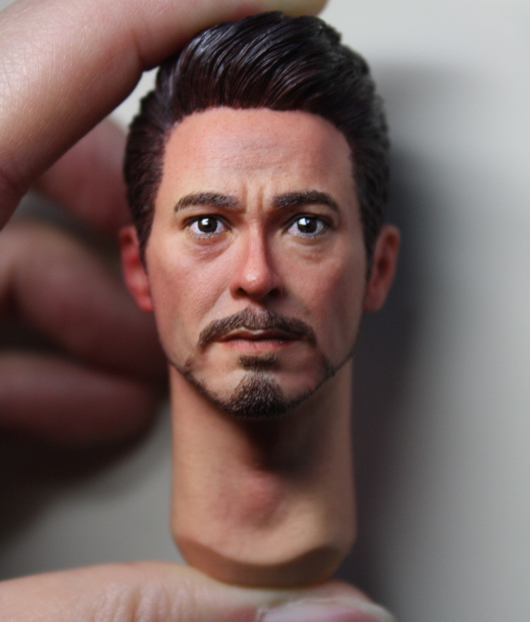 KUMIK 1/6 tony Iron Man Robert Downey Jr. headsculpt for DIY12in doll Parts Male head shape ,Not include the body and clothes 1 6 scale male head sculpts model toys downey jr iron man 3 captain america civil war tony with neck sets mk45 model collecti f