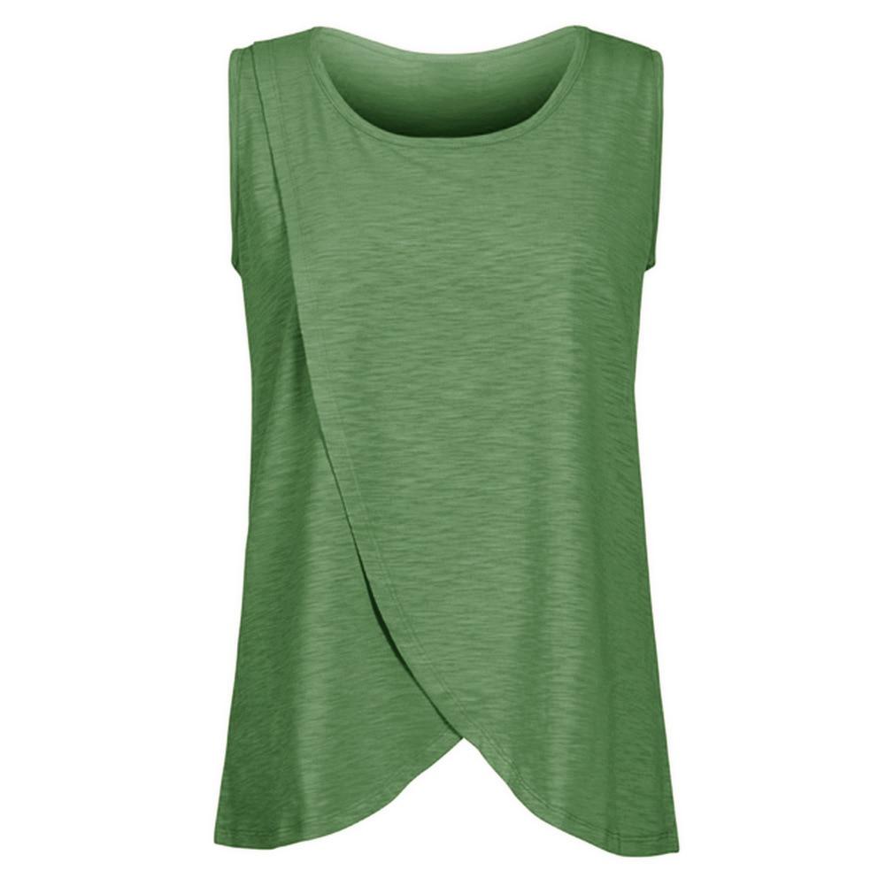 Summer Breast-feeding T Shirt Feeding Maternity Clothes Pregnant Women Cotton Sleeveless Maternity Nursing T-shirt Plus Size M20