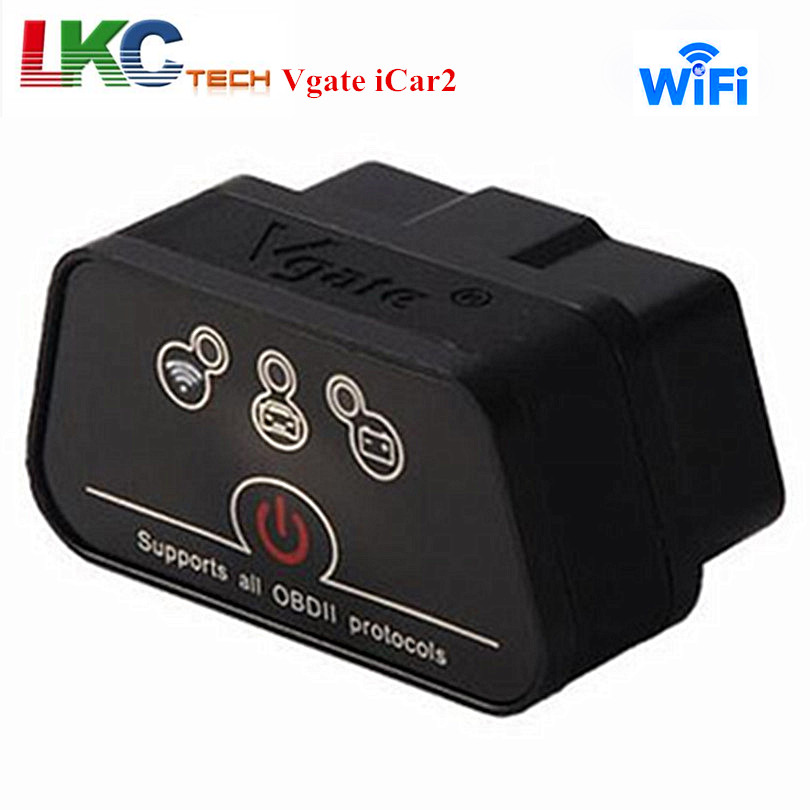 Newest Vgate iCar 2 For Android IOS PC Vgate iCar2 ELM 327 WIFI OBD2 V1 5