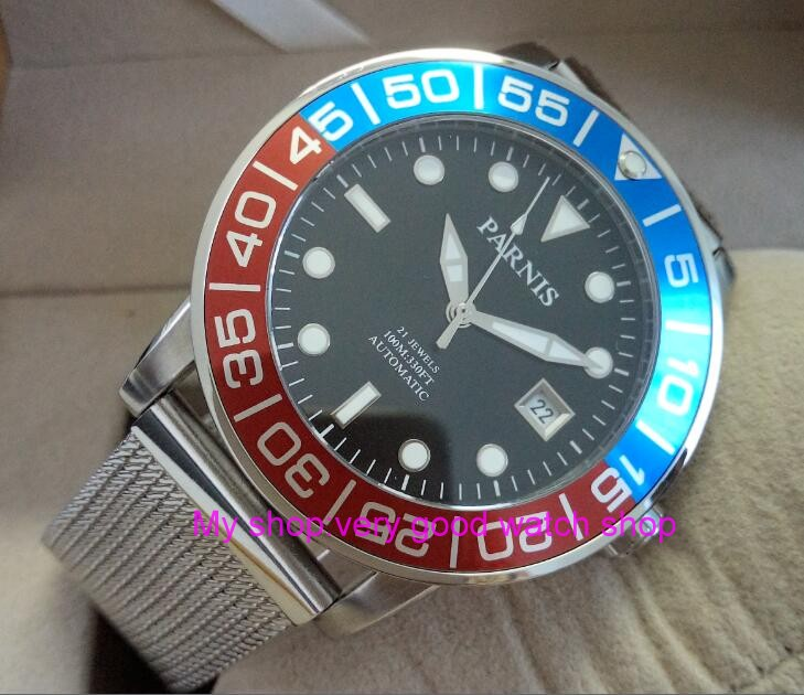 42mm <font><b>PARNIS</b></font> Sapphire Crystal Japanese 21 jewels Automatic Self-Wind Movement Mechanical watches <font><b>10Bar</b></font> Luminous Men's watches 59 image