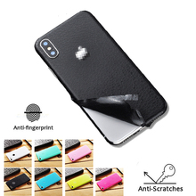 Skin Pattern Sticker for IPhone 6 7 8 Plus XS MAX Back Film Thin Screen Protector Cover Color Paster Rear Decorative Back Film stylish floral pattern front back decorative sticker set for iphone 6 4 7 purple green