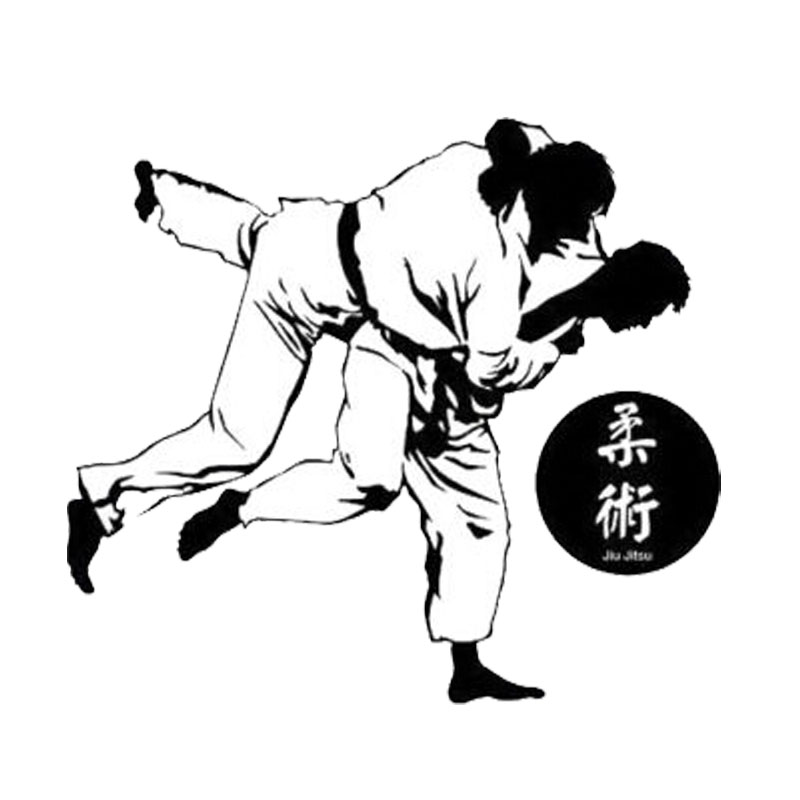 13cm*11.5cm Creative Sashion Chinese Kung Fu Jiu Jitsu Car Styling Car Sticker Decal C5-1818