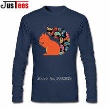 Autumn Winter Men Tshirt Long Sleeve Squirrel High Quality Geek Naruto Luxury Hipster Tee Shirts Camisetas Men's Clothing