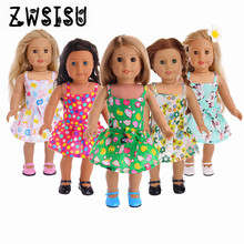 Five new dresses for 18inch American girl dolls suitable for 43cm zapf dolls giving children the