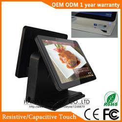 Хайна Touch 15 дюймов сенсорный экран все в одном POS супермаркета системы пакетной передачи POS (по сети Sonet) система Двойной экран